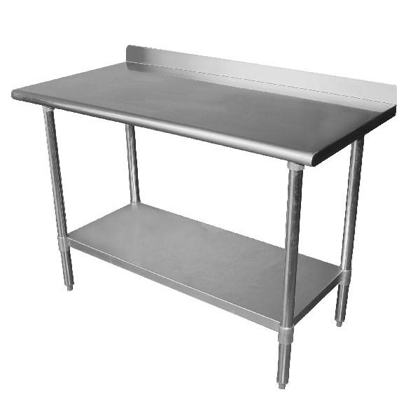 custom backsplash work tables with 1 shelf